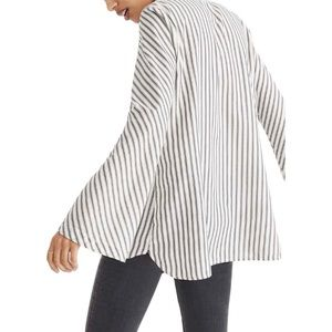 Madewell Stripe Flare Sleeve Blouse Top
